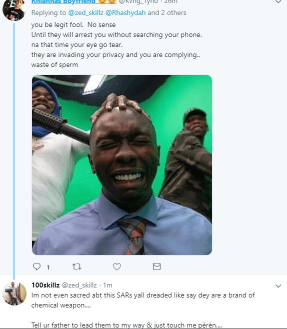 """Man is dragged for defending SARS and saying, """"he"""