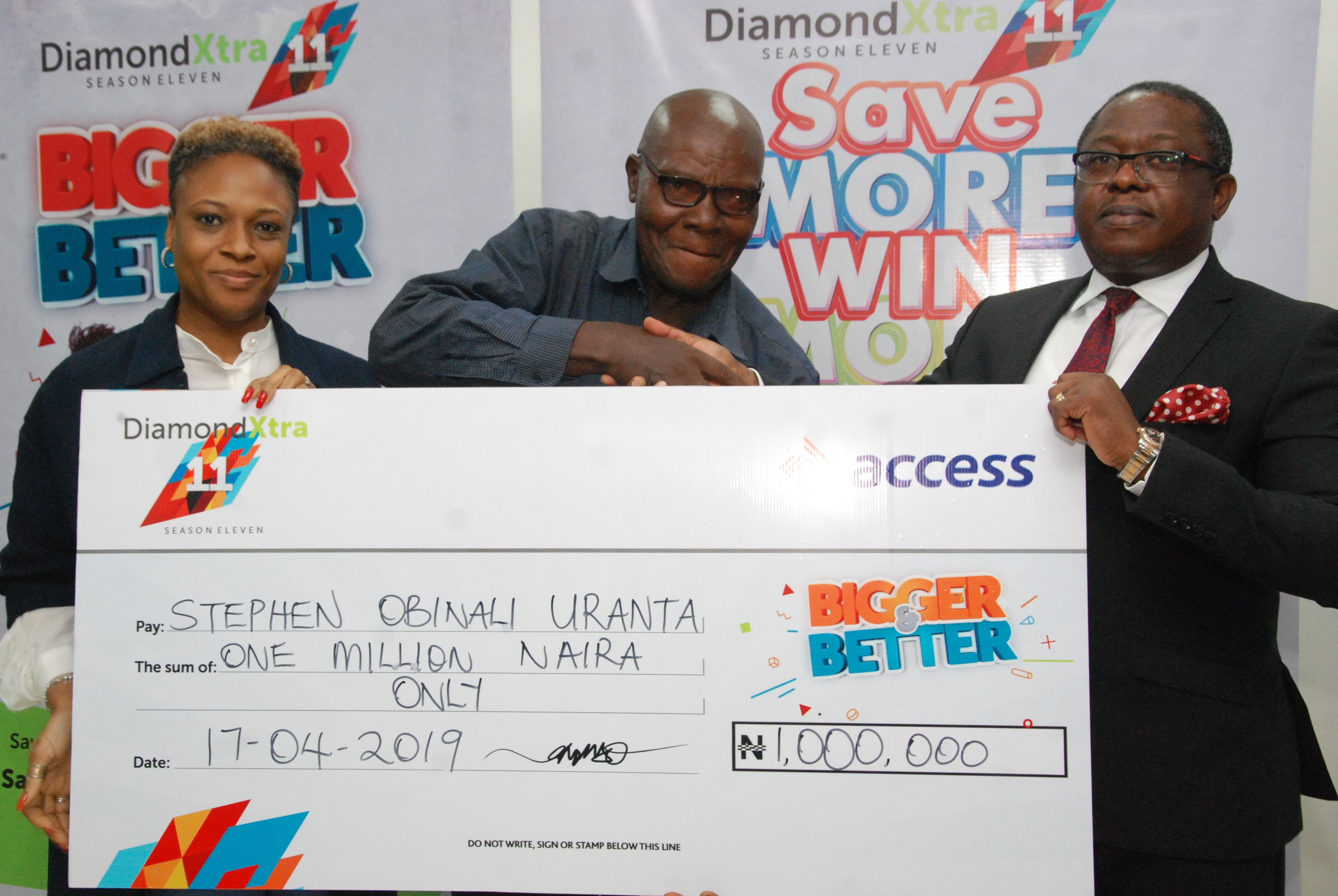 It's raining millionaires as Access Bank and DiamondXtra reward
