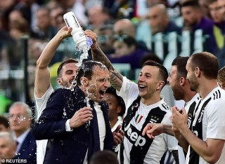 Cristiano Ronaldo wins his first Serie A title with Juventus, as the Italian club is crowned champions for eighth consecutive time (Photos)
