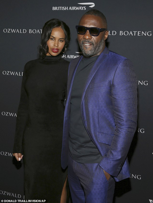 Idris Elba and Sabrina Dhowre make first appearance as husband and wife after their Moroccan wedding (Photos)