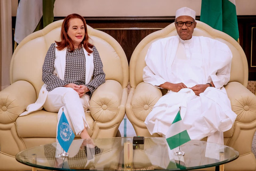 President Buhari seeks UN support to rebuild IDPs camps destroyed by Boko Haram