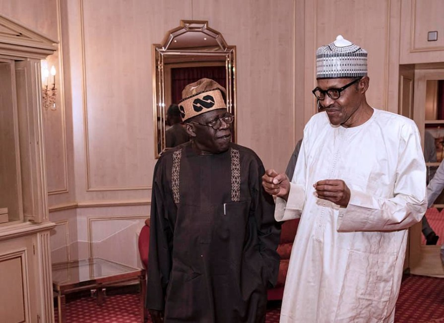 President?Buhari breaks Ramadan fast with the APC National Leader, Asiwaju Bola Tinubu (Photos)