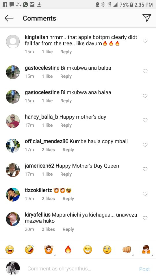 Tanzanian model, Sanchi shows off her endowed mom and fans are now convinced that her massive backside is natural?(See Photos)