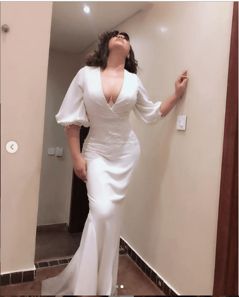 Ghanaian actress, Nadia Buari flaunts cleavage in stunning new photos