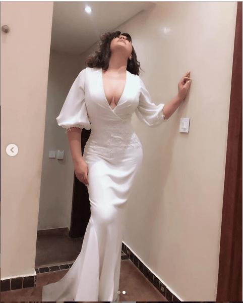 Ghanaian actress, Nadia Buari flaunts cleavage in stunning new photos