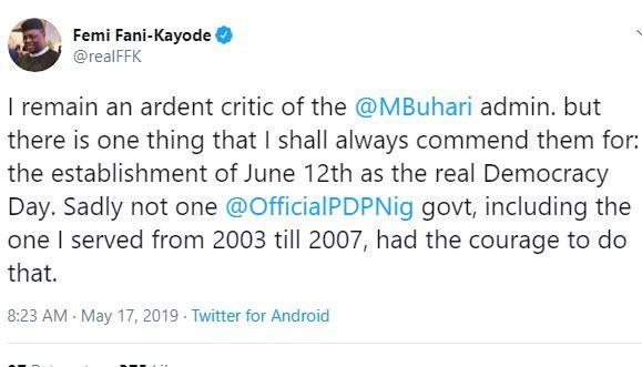 ?I commend Buhari