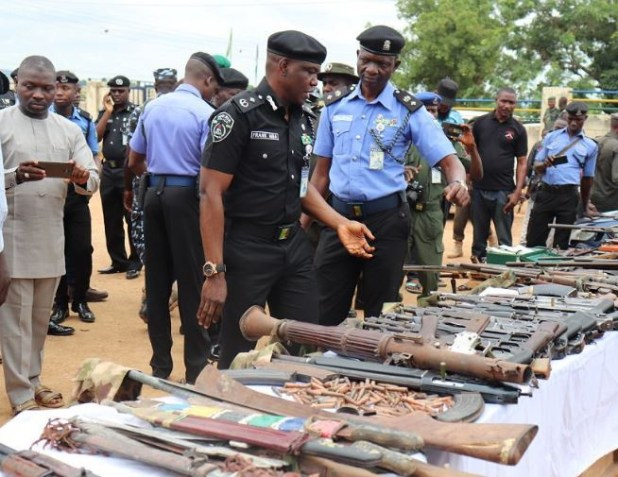 Police parade 93 suspected kidnappers, recovers 1 rocket launcher, 35 Ak47 rifles and?500 live ammunition (Photos)