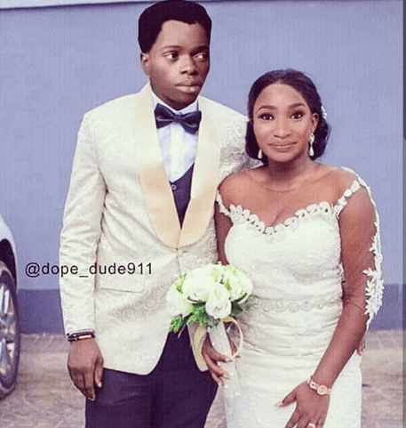 Tonto Dikeh shades her ex-husband as she shares photoshopped image of her getting married to Bobrisky
