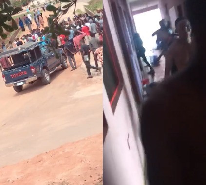 Video: Two students reportedly shot as students go on rampage in Caleb University Lagos