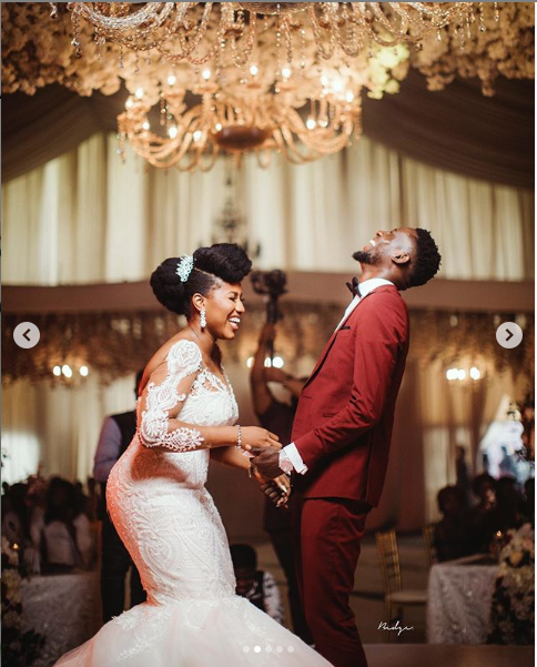 Check out more beautiful photos from the white wedding of Super Eagles midfielder, Wilfred Ndidi