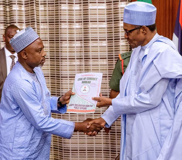 President Buhari submits assets declaration forms ahead of May 29th swearing-in ceremony