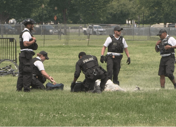 Man sets himself on fire on White House lawn (video)