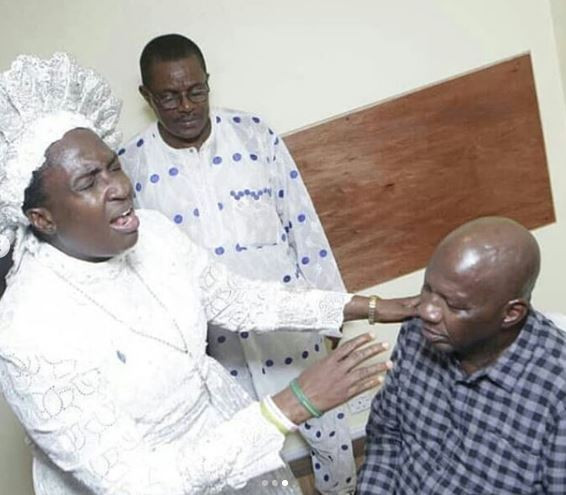 Veteran Nollywood actor, Baba Suwe?returns to Nigeria after spending weeks in a US hospital