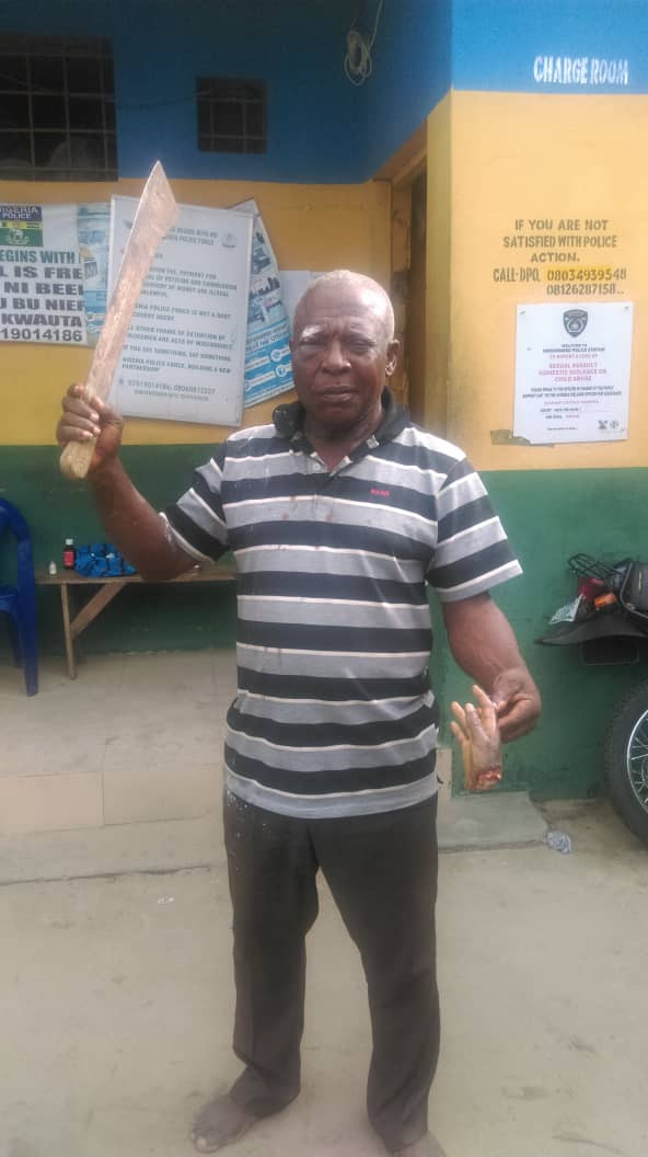 Graphic: 61-year-old man arrested for cutting off hand of 11-year-old boy