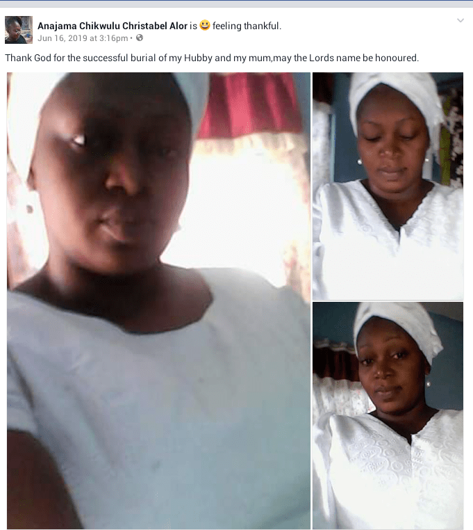 """As they wasted your life, so shall their lives be wasted"""" - Nigerian widow mourns as her husband and mother are laid to rest"""