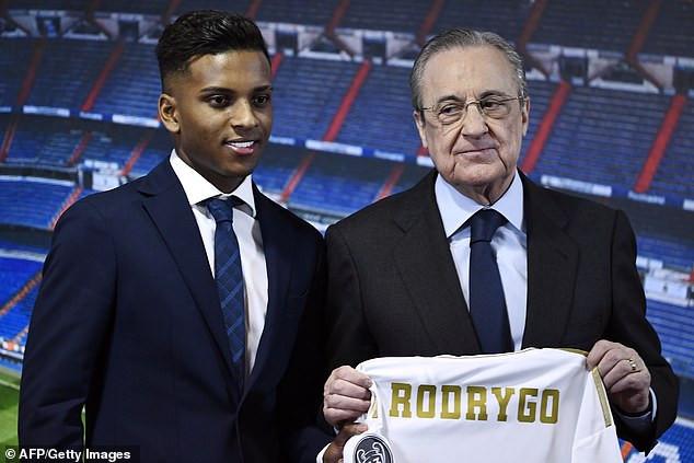 Real Madrid unveils Brazilian forward Rodrygo following ?40m switch from Santos (Photos)
