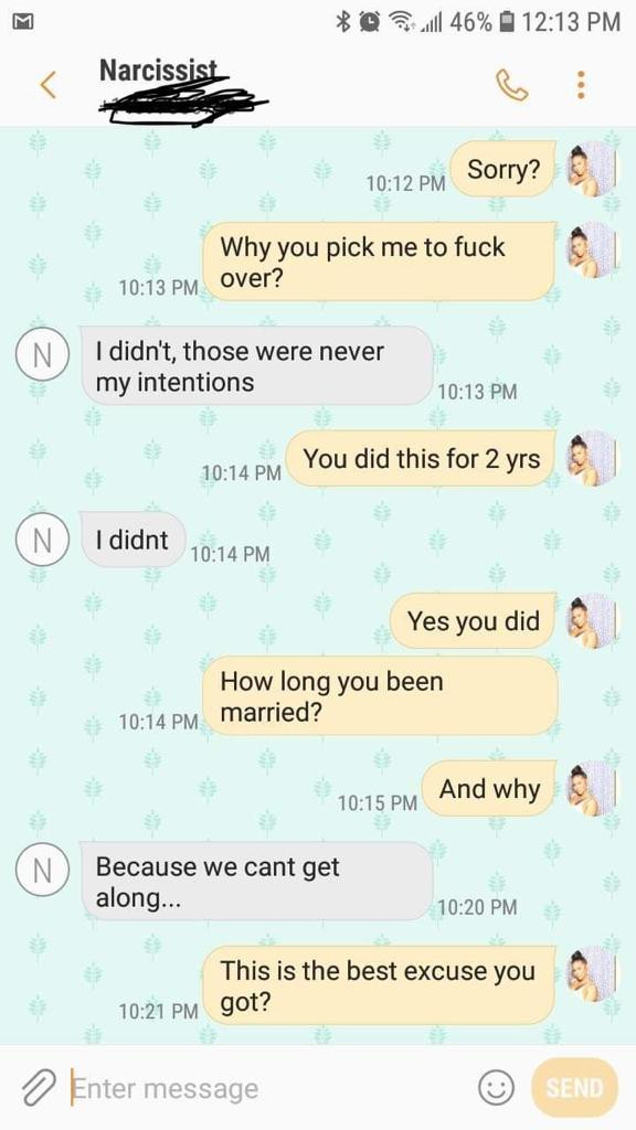 Woman shocked to discover her boyfriend of two years just got married. See his explanation