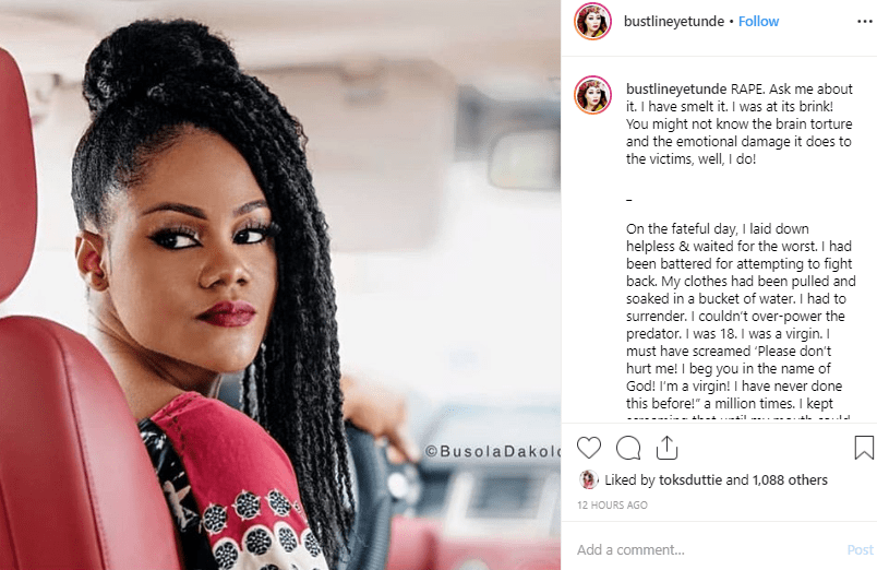 Nigerian writer recounts how being a virgin saved her from been raped