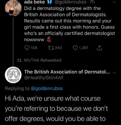 Awkard moment an institution exposed a woman after she took to Twitter to claim she did a degree with them and made a first class