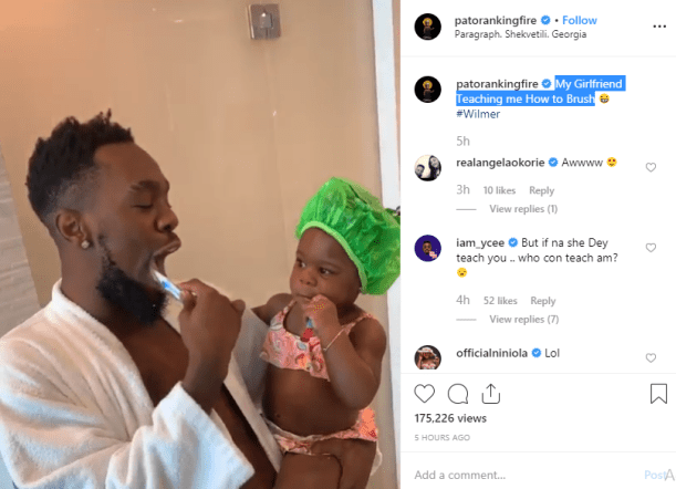 Image result for Patoranking Shares A Heart-Warming Video Of His Daughter