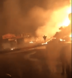 Video: Fire guts Ijegun community in Lagos