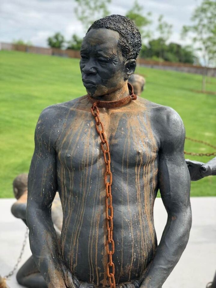 These sculptures depicting the slave trade are so heartbreaking