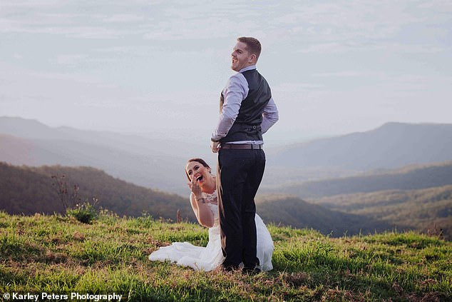 Bride hits back at criticism she received after sharing sexually suggestive photos from her wedding day