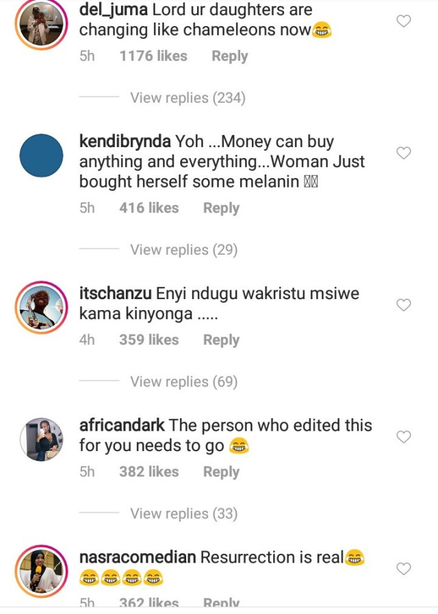 """Good to be black. Missed my melanin"" Vera Sidika says as she goes back to her original skin color but fans are not having it"