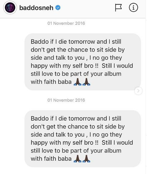 Zlatan shares screenshot?of DMs he sent Olamide back in 2016 and they are totally hilarious