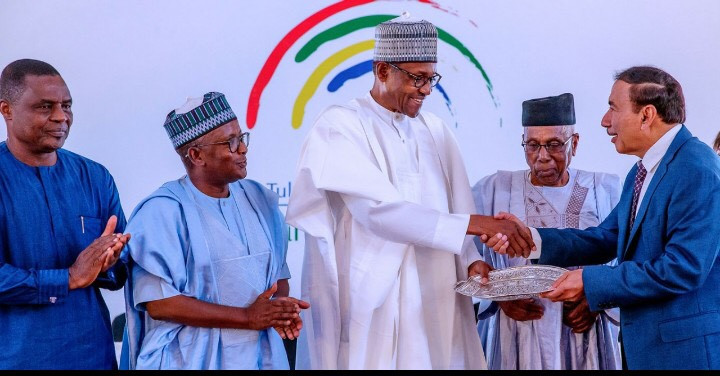 H.E Muhammadu Buhari Commissions The Tulsi Chanrai Foundation Eye Hospital in Abuja, Nigeria