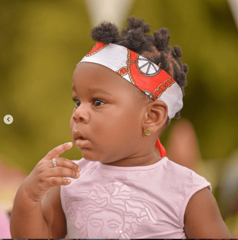 Adorable photos of Patoranking and his daughter Wilmer