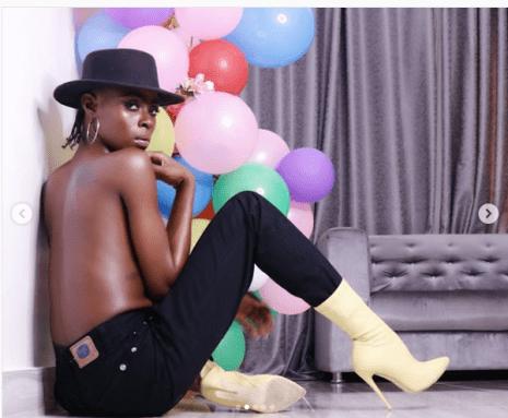 Big Brother Naija star, Khloe poses topless in new photos