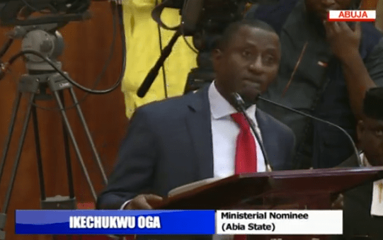 Photos: Senate begins ministerial screening, asks Akpabio, Akume to take a bow
