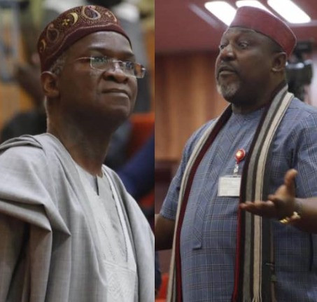 Fashola now having grey hair for heading 3 ministries ? Okorocha