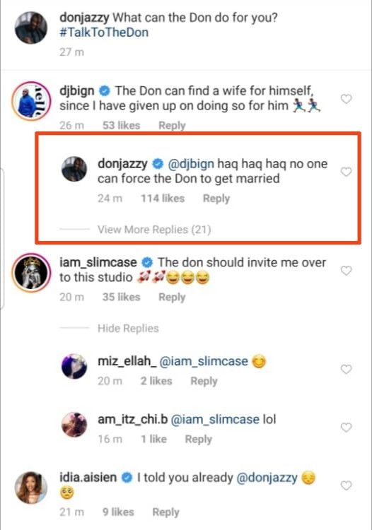 """No one can force me to get married"" Don Jazzy says"