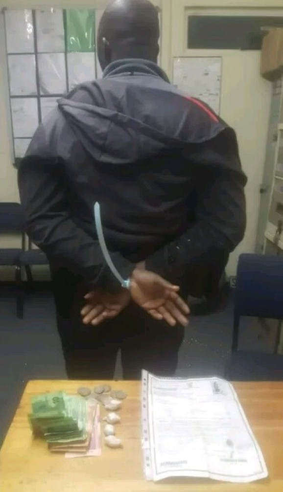 Photo: Nigerian national arrested in South Africa for alleged possession of drugs