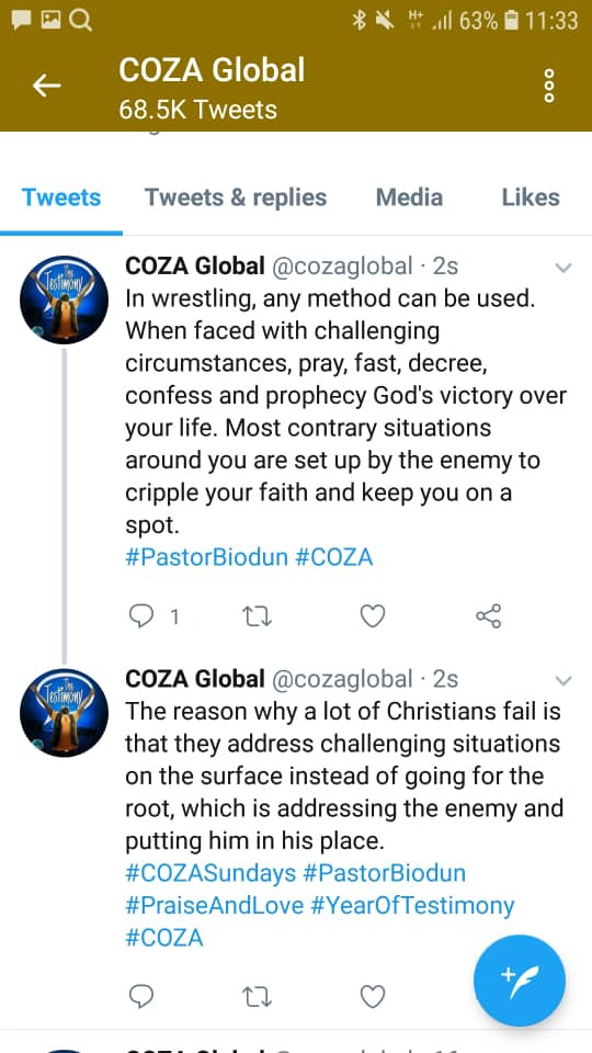 "COZA members rejoice as Biodun Fatoyinbo returns to the pulpit to preach about ""sudden victories"""