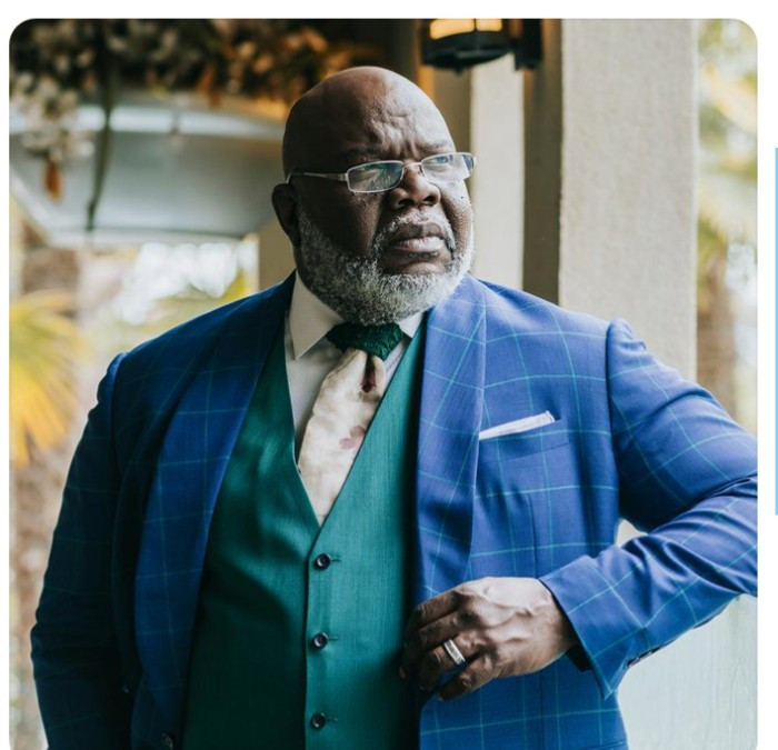 """Bishop TD Jakes amuses his followers as he substitutes his initials TD with """"The Drip"""""""
