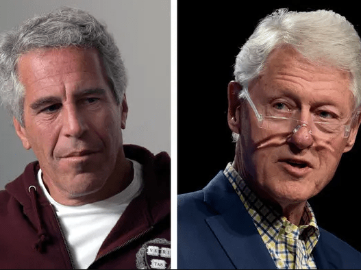 Painting of Bill Clinton in dress and heels found in Jeffrey Epstein