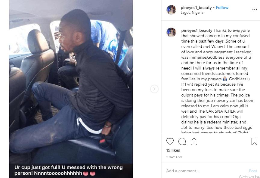 Pastor arrested after snatching Uber driver
