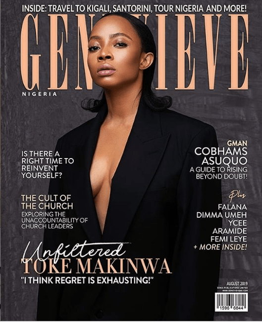 Media personality, Toke Makinwa covers the latest edition of Genevieve Magazine
