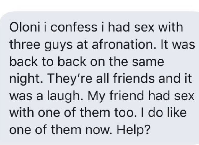 Ladies share stories of their wild sexcapades, threesomes and one night stands at the just concluded Afronation festival in Portugal