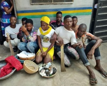 Female cultists, 7 others arrested during initiation into One Million Boys in Lagos