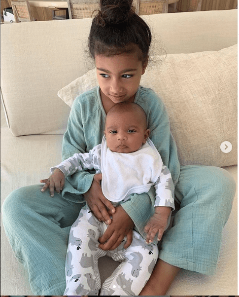 Kim Kardashian shares adorable photos of children North, Saint and Psalm West
