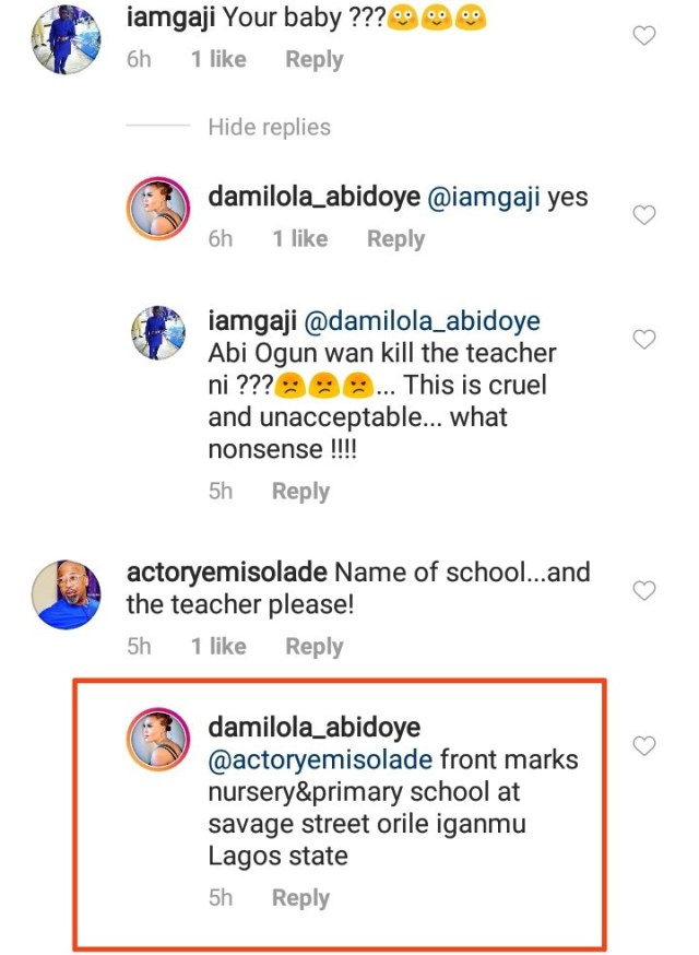 Actress Abidoye exposes what a teacher did to her 2-year-old son at school and asks for justice