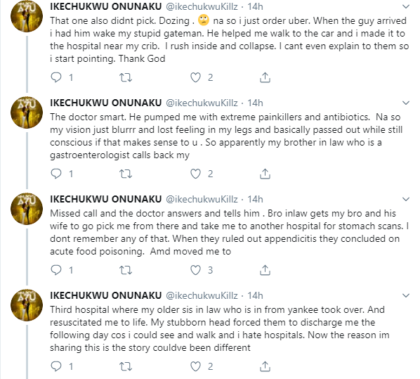 Rapper Ikechukwu narrates how an Uber driver saved him from acute food poisoning