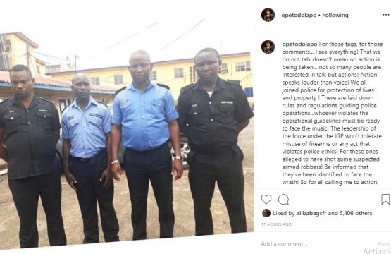 four policemen who killed unarmed suspects inside a bus