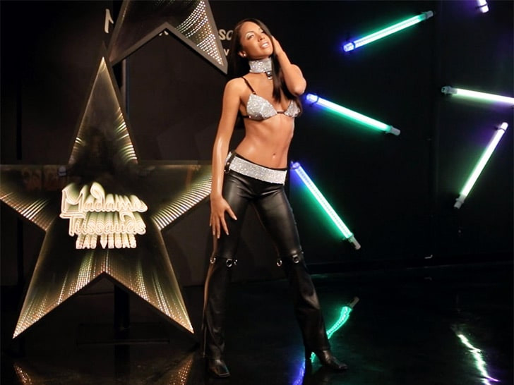 Late Aaliyah immortalized with a wax figure at Madame Tussauds