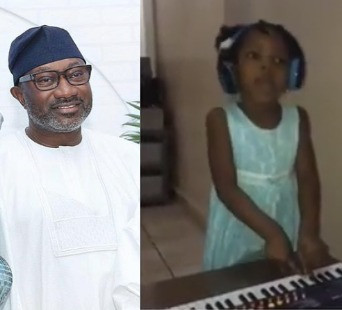 Femi Otedola offers scholarship to University level to little girl filmed singing DJ Cuppy