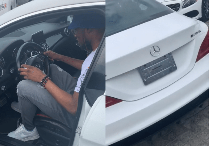 Singer Victor AD shows off his?brand new Mercedes Benz whip (Video)